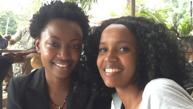 CNN's Errol Barnett checks the claim that Kenyans, known as #KOTs in the twitterverse, are one of the most vocal groups on social networks. On this week's Inside Africa, he sets off on a mission to meet some tech-savvy Kenyans, like Pierra Mckenna and Makena Mutwiri pictured here.