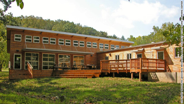 Certified: Living -- Located at Tyson Research Center, an environmental field station for Washington University in St. Louis, the Learning Center fosters indoor/outdoor education with a large multi-use classroom that opens directly out to a white oak deck. All materials used in construction were sourced locally.
