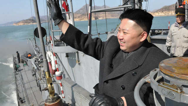 A photo from North Korea's official Korean Central News Agency shows Kim Jung Un as he inspects an army navy unit.