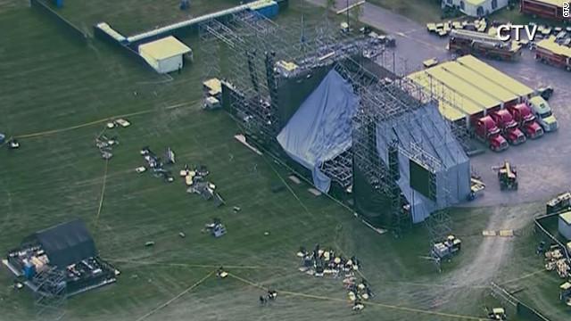 Técnico de la banda Radiohead murió por colapso de una estructura en el escenario