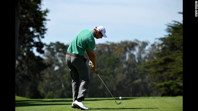 Nicolas Colsaerts of Belgium hits his tee shot on the third hole Saturday.
