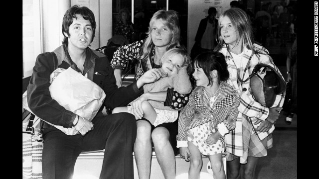 McCartney With His First Wife Linda Eastman And Their Daughters Stella From Left