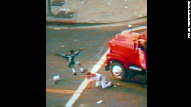 That evening a news helicopter broadcasted live the beating of Reginald Denny by an angry mob at the intersection of Florence and Normandie Avenues.