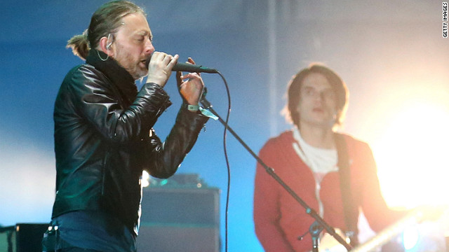 Radiohead's Thom Yorke performs at the Coachella Valley Music & Arts Festival on April 14, 2012.