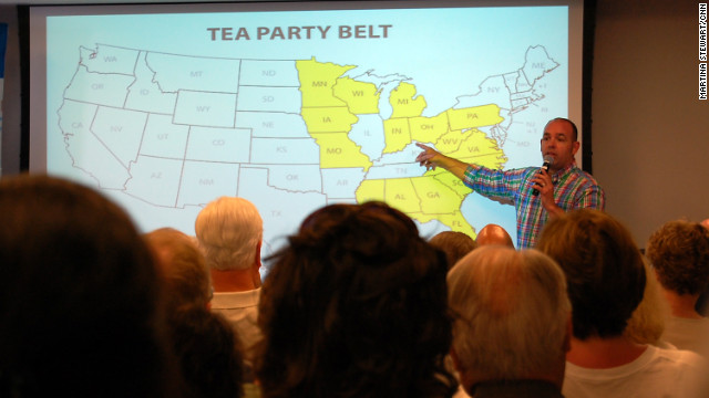 FreedomWorks' Russ Walker shows activists a map of the 