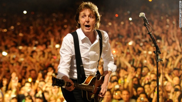 McCartney performs at the 2009 Coachella Music and Arts Festival in Palm Desert, California.