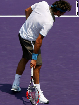 Roger Federer is a calm and collected presence on the tennis court -- most of the time. In a rare moment of weakness, the former world No. 1 smashed his racket when things weren't going his way in a match with current top-ranked star Novak Djokovic in 2009.