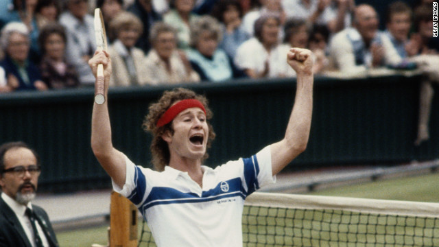 John McEnroe is as famous for his on-court histrionics as he is for the seven grand slam titles he won. In his second-round Wimbledon match in 1981, his &quot;You cannot be serious!&quot; catchphrase was coined after a rant at a line judge. Despite the outburst, the American went on to win the first of his three Wimbledon crowns that year. 