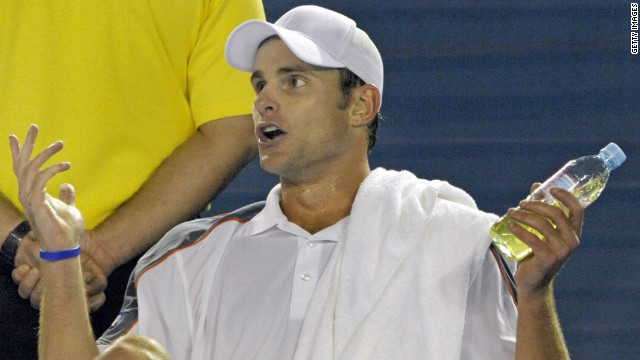 "At the same tournament in 2008, Roddick launched a tirade at the umpire. The 2003 U.S. Open winner told the chair official ""do your job,"" while also demanding he ""use his ears"" and listen."