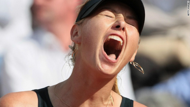 French Open champion Maria Sharapova is famous for her on-court shrieks. But at Roland Garros in 2008, the current world No. 1 aimed a verbal volley at the Paris crowd after being heckled during a clash with Dinara Safina.