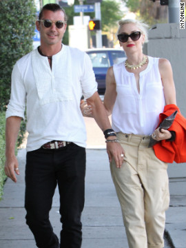 Gavin Rossdale and Gwen Stefani have dinner with their family for Father's Day in West Hollywood.