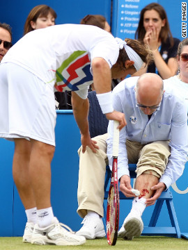 David Nalbandian was disqualified from the Queen's Club final on Sunday for inadvertently injuring a match official after kicking an advertising board. But the Argentine is not the first tennis star to lose their cool on court...