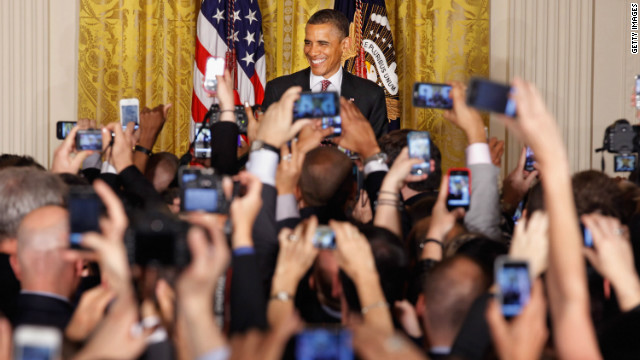  President Barack Obama hosts a reception in honor of national Lesbian, Gay, Bisexual and Transgender Pride Month in the East Room of the White House on Friday.