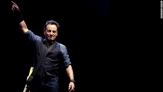 "Bruce Springsteen performs in Seville, Spain, in May 2012. The press-shy musician appears in a short film by director and Springsteen archivist Thom Zimny, who has interwoven music and video from the rocker's latest album, ""Wrecking Ball."""
