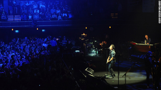 Springsteen at the 2012 SXSW Music, Film + Interactive Festival in March 2012 in Austin, Texas. Themes of joblessness, corporate greed and governmental responsibility run through &quot;Wrecking Ball,&quot; which debuted at No. 1 on Billboard's album chart in early March.