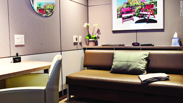 Standard features include a daybed sofa, HD television, desk, phone, office chair and Wi-FI connection.