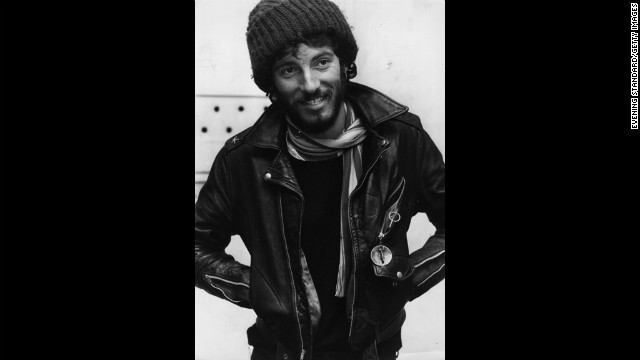 Springsteen in 1975. The singer made the covers of both Time and Newsweek magazines that year.