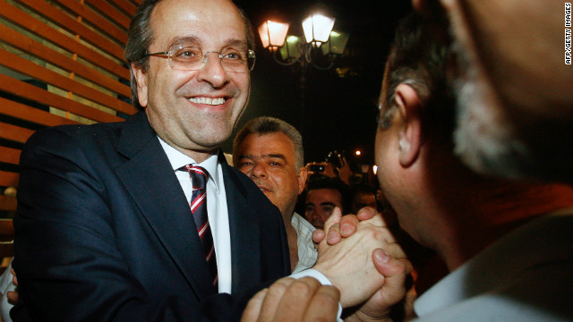 New Democracy's Antonis Samaras can either go ahead with a minority government or attempt to form a coalition.