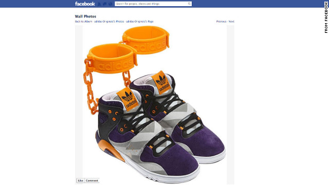 German sports apparel maker Adidas has withdrawn its plans to sell a controversial sneaker featuring affixed rubber shackles after the company generated significant criticism when advertising the shoe on its Facebook page.
