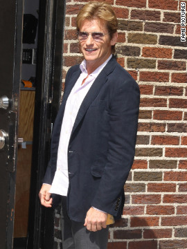 "Denis Leary visits ""The Late Show with David Letterman"" in New York City."