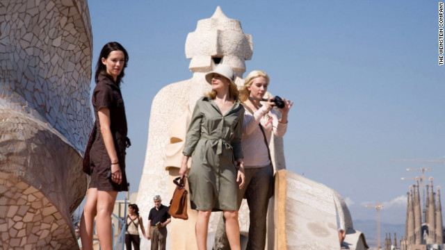 Friends played by Rebecca Hall and Scarlett Johansson visit Antonio Gaudi's Casa Mila in &quot;Vicky Cristina Barcelona.&quot;