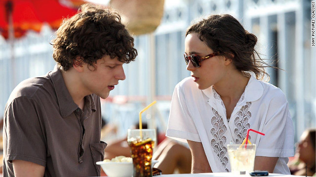 Jesse Eisenberg and Ellen Page make up two-thirds of a love triangle in the film.