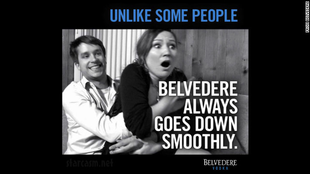 "In March 2012, Belvedere Vodka posted a controversial ad on its Facebook page that many felt implied rape. Belvedere's senior vice president of marketing posted an apology, saying the ad also offended ""the people who work here at Belvedere."""