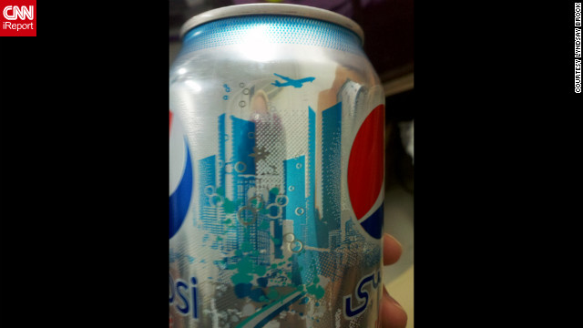 CNN iReporter Lyndsay Brock, working at the Baghdad Diplomatic Support Center in Iraq, <a href='http://ireport.cnn.com/docs/DOC-719248'>shared this photo</a> of a Diet Pepsi can that caused some controversy online in 2011. Some said the imagery resembled the Twin Towers and a plane flying overhead. Pepsi responded that any such resemblance was unintentional and that the design was inspired by the skyline in Dubai, United Arab Emirates.