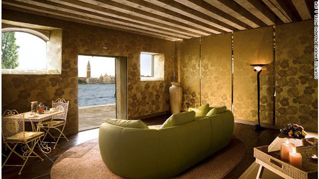 Venice's most famous landmarks are St. Mark's Square and the Doge's Palace—and that's exactly what you will see from the Bauers Palladio Hotel & Spa. <a href='http://www.budgettravel.com/slideshow/photos-girls-weekend-world-spas-with-incredible-views,8525/ ' target='_blank'>See more photos of the spas at BudgetTravel.com</a>.