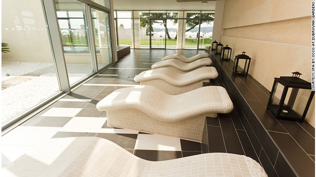 Guests at the Spa by Occo at the Radisson Blu Resort & Spa at Dubrovnik Sun Gardens in Croatia can turn in all directions to see the unspoiled Elafiti islands and the stunning blues of the Adriatic Sea. <a href='http://www.budgettravel.com/slideshow/photos-girls-weekend-world-spas-with-incredible-views,8525/' target='_blank'>See more photos of the spas at BudgetTravel.com</a>.