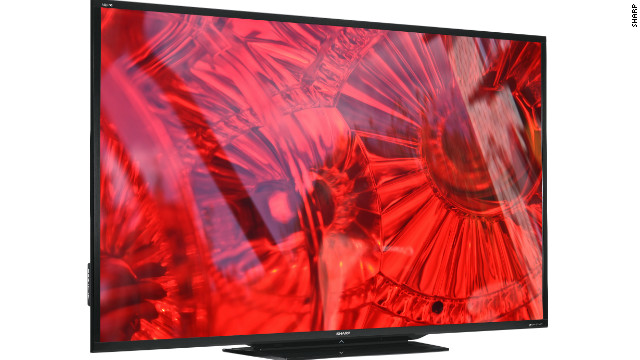Standing 4 feet high and 6 feet, 8 inches across, the new Sharp Aquos LED TV is called the biggest of its kind.