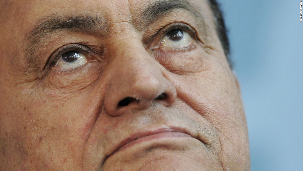Former Egyptian President Hosni Mubarak, 84, is declared clinically dead on Tuesday, June 19, shortly after arriving at a military hospital in Cairo, according to Egypt's state-run news agency. A military official disputes the report and says Mubarak is in critical condition.