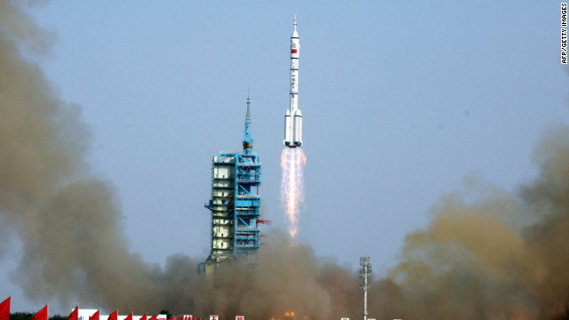 China successfully launched the Shenzhou-9 into space on Monday.