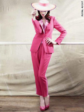 If the lady does not wish to wear a dress, a pant suit is acceptable. But the material and color of the trousers must match what is on show above the waist.