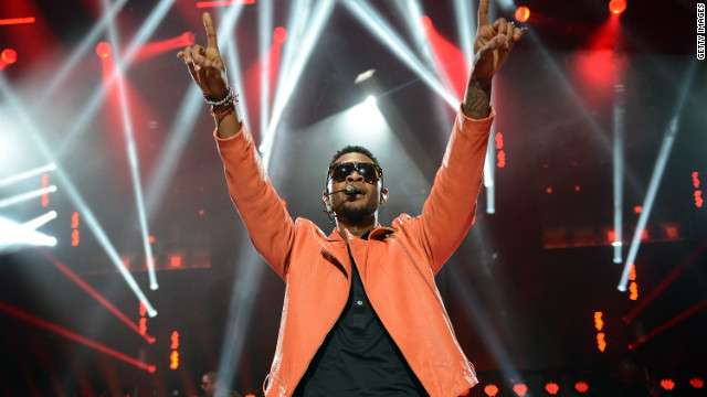 Usher performs in London at the