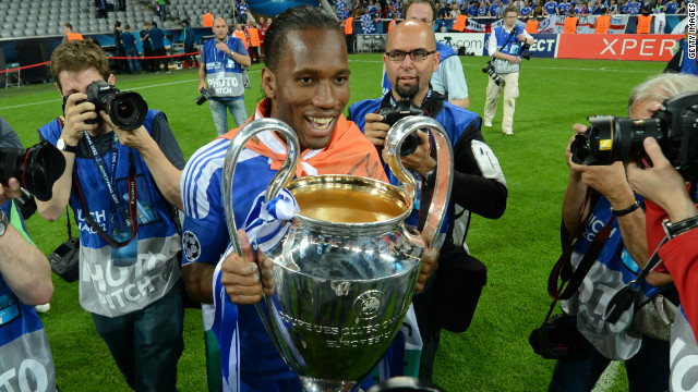 Didier Drogba helped Chelsea to last season's Champions League as they beat Bayern Munich in the final.