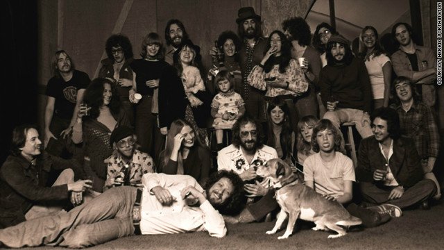 The band and crew on their last day at the Record Plant in Sausalito.
