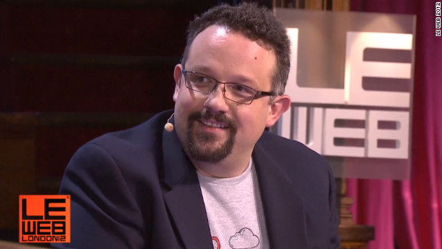 Phil Libin at the LeWeb conference in London. 