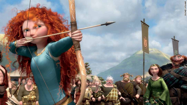 "Merida, a Scottish princess, sets out to break her family's curse in Disney-Pixar's ""Brave."" The skilled archer joins a growing list of animated females who would have been just fine without Prince Charming's help. (Not that there's anything wrong with a little animated eye candy.) Check out our short list of movie heroines and add your favorite in the comments below:"