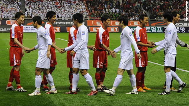 South Korea's clash with the North in 2010 was held in Shanghai after a dispute over the playing of each nation's respective anthem. When the South won the return game 1-0 in Seoul, the North accused their opponents of deliberately giving their players food poisoning.