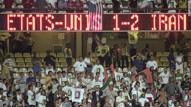 "The United States had had no diplomatic relations with Iran since the revolution in 1979. Furious political discussion ensued when they were drawn to meet at the 1998 World Cup. But the game passed off peacefully, the two teams swapping gifts and posing for a pre-match photo together. Iran won 2-1, knocking the U.S. out but defender Jeff Agoos said at the time: ""We did more (for relations) in 90 minutes than the politicians did in 20 years."""