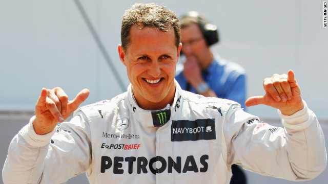 Mercedes' veteran driver Michael Schumacher has collected 68 pole positions in his Formula One career.