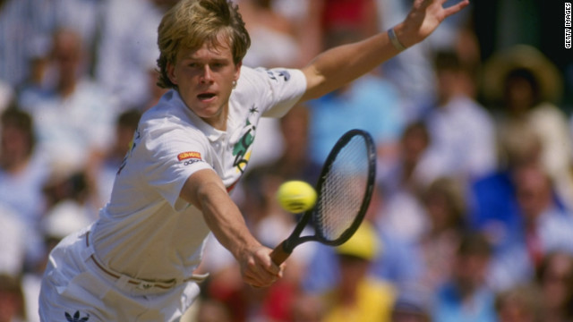 Sweden's Stefan Edberg could not match the serve of his rival Becker, but his sublime volleying ability helped him to several notable wins over the German. He sometimes employed slower serves to afford himself more time to get to the net.