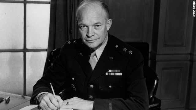 Gen. Dwight Eisenhower in 1942, as commander of the American forces in the European Theater.