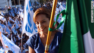 Josefina Vazquez Mota of the ruling National Action Party has appeared to distance herself from the incumbent\'s policies.