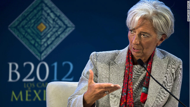 An outgoing economist at the IMF has blasted the selection process of managing director Christine Lagarde, pictured here at the June G-20 Leaders Summit in Mexico.