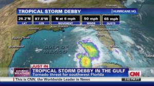 Tropical Storm Debby lashing Gulf Coast with winds, rain - CNN.