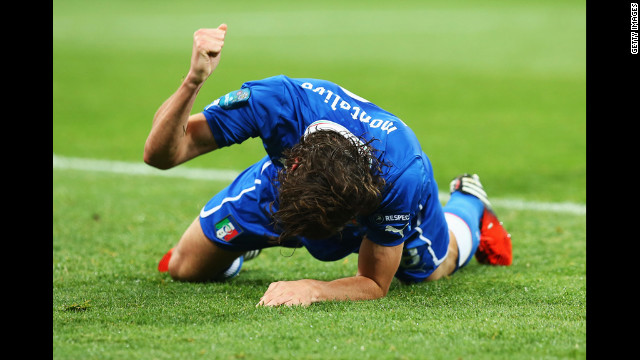 Riccardo Montolivo of Italy reacts during the match against England.