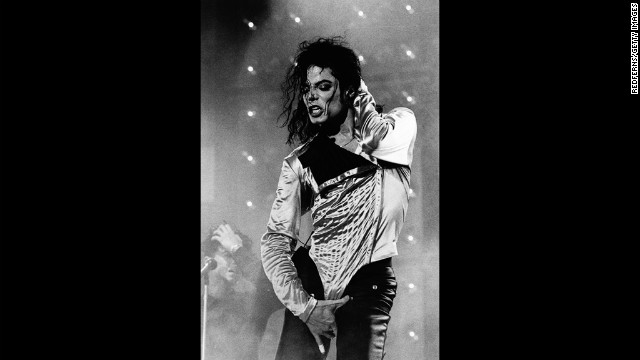 Michael Jackson performs in Rotterdam, Netherlands.