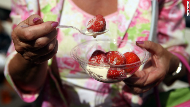 The sight of fans enjoying strawberries and cream has become synonymous with the annual championship at Wimbledon, one of tennis' four grand slams.